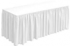 White tableskirts