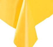 Yellow rectangle tablecloth