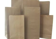 Gusseted brown paper bags