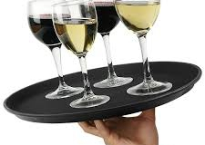 Non slip drink tray