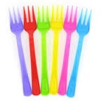 Assorted coloured premium cutlery