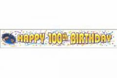 100th Banner Giant  Birthday (32cm High x 200cm Long