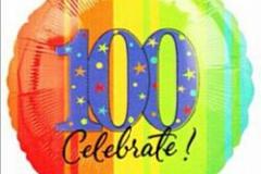 100th  Birthday Celebrate Foil Balloon