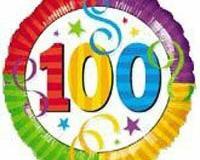 100th birthday foil 45cm