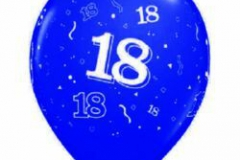 18th assorted colours balloons