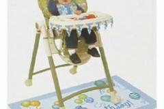 1st birthday blue high chair decorating kit