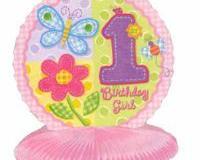 1st birthday girl honeycomb centrepiece 25cm