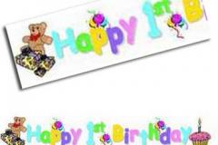 1st birthday paper banner