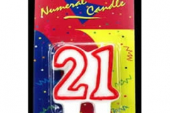 21 red candle