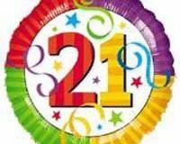 21st bright foil 45cm