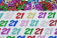 21st confetti scatter