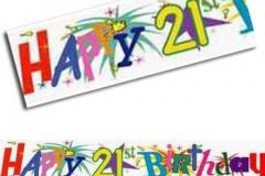 21st fireworks paper banner