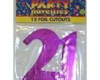 21st foil cutouts assorted colours