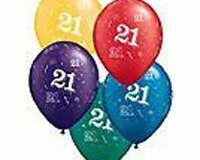 21st latex multi coloured balloons
