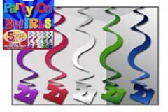 21st multi coloured hangin swirl 60cm pkt 5