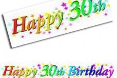 30th birthday paper banner