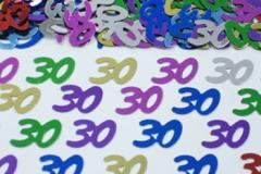 30th confetti scatter