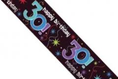 30th foil banner 3.65 mtr x 12cm