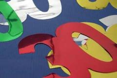 30th foil cutout 10cm