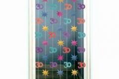 30th hangin string decoration 2.1 mtr pkt 6
