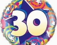 30th round swirl foil 45cm