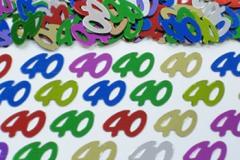 40th confetti scatter