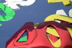 40th foil cutouts 10cm