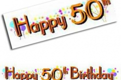 50th birthday paper banner