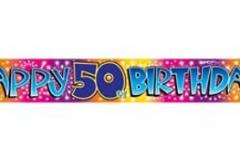 50th foil Banner