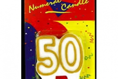 50th gold candle