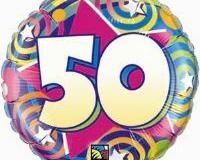 50th swirl 45cm foil