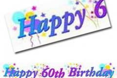60th birthday paper banner