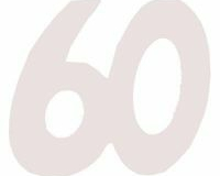 60th cardboard cutout large and small