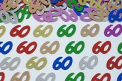 60th confetti scatter
