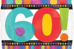 60th square foil balllon 45cm