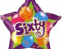 60th star shape foil balloon
