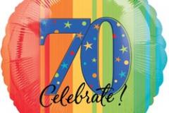 70th celebrate 45cm foil