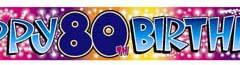 80th Banner Foil Birthday Sparkling