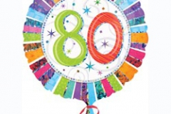 80th Radiant Birthday Prismatic Foil Balloon