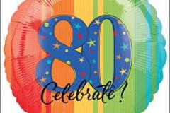 80th celebrate 45cm foil
