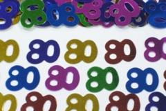 80th confetti scatter