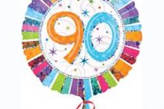 90th Radiant Birthday Prismatic Foil Balloon