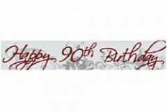 90th birthday paper banner