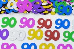 90th confetti scatter