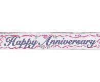 Foil happy anniversary banner