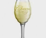 Champagne glass foil balloon 35 x 97 cm