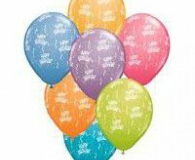 Assorted happy birthday print balloons