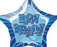 Blue glitz star shape 45 cm foil balloon m55121
