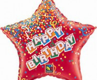 Red star shape 45cm foil balloon q35732