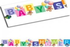 Baby shower paper banner